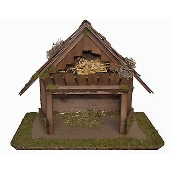 Crib Nativity scene wood Nativity ARVID stable hand work for characters up to 10 cm