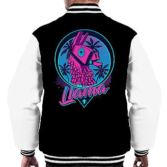 Find The Llama Fortnite Men's Varsity Jacket