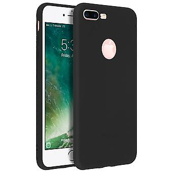 Forcell case for iPhone 7 Plus, 8 Plus, soft touch cover, silicone case - Black