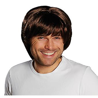 Brad Brown men's wig shoulder length page pony accessory Carnival