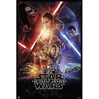 Star Wars: Episode 7 onesheet plakat vigtigste motiv U.S. plakatstørrelse 68,5 x 101, 6 101 x 68 cm