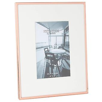 Juliana Impressions Copper Plated Photo Frame 4x6 - Rose Gold