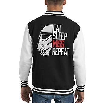 元ストームトルーパー食べる睡眠ミス繰り返す子供のバーシティ ジャケット