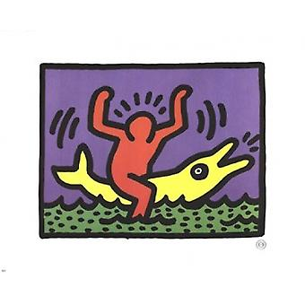 Untitled Poster Print by Keith Haring (12 x 10)