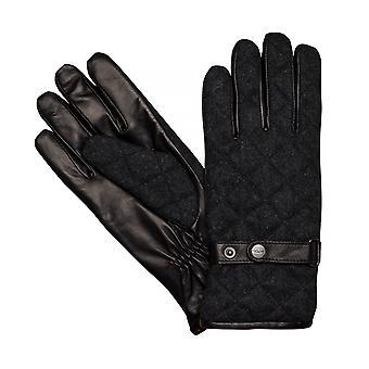 Hombres de LLOYD guantes guantes lana fieltro/piel de oveja negro 7621