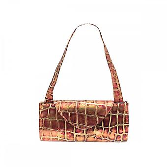 Renata Leather 3 In 1 Bronze Clutch Bag