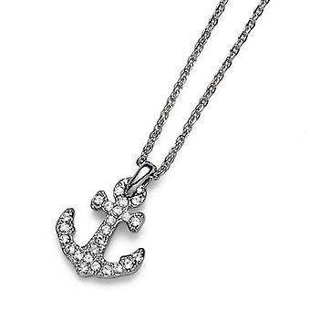 Oliver Weber Pendant Anchor Gold Crystal