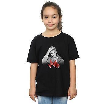 Justin Bieber ragazze rosso Logo t-shirt