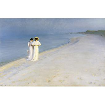 Summer Evening on the Southern, Peter Severin Kroyer, 60x40cm