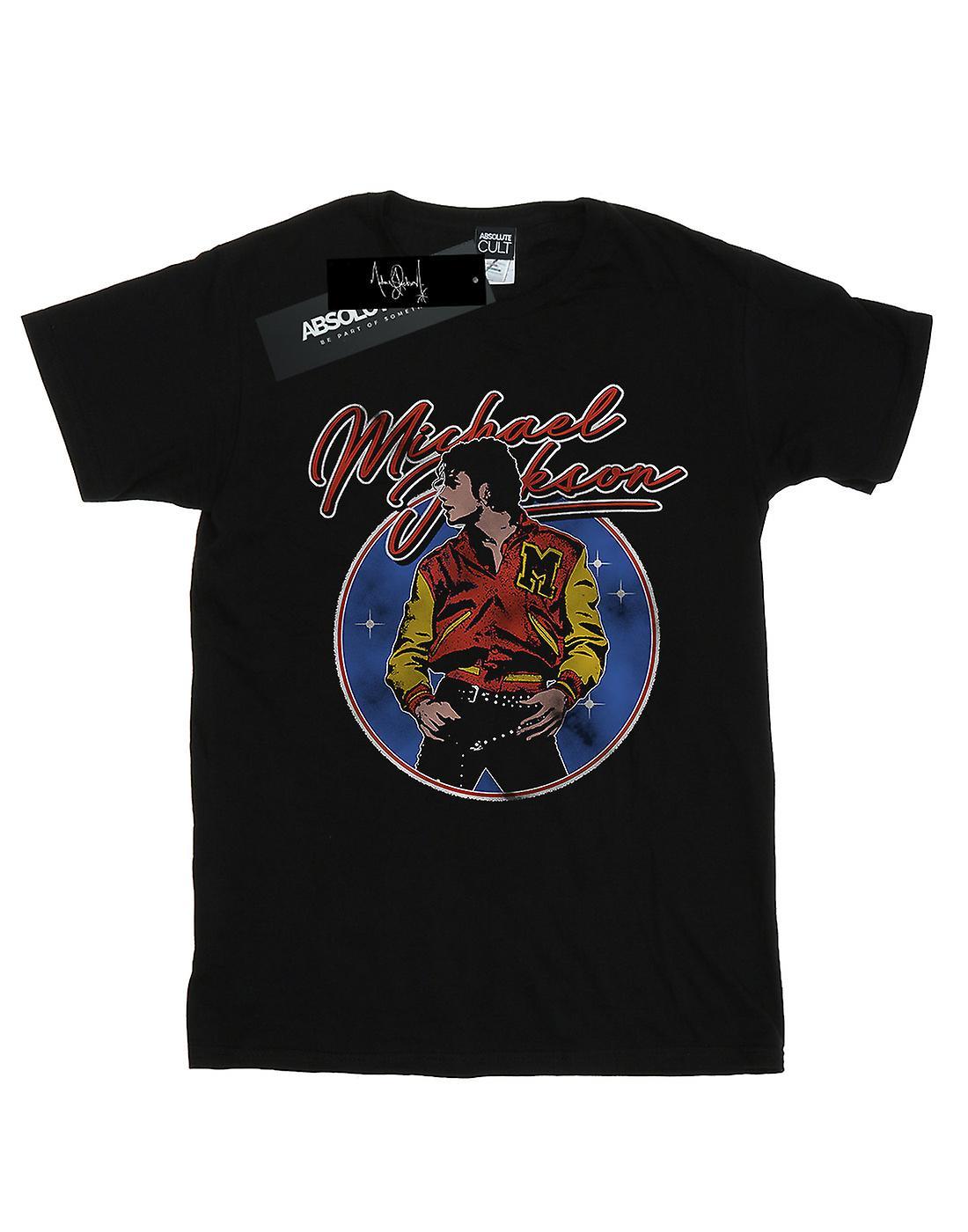 Michael Jackson Women's Circle Thriller Crest Boyfriend Fit T-Shirt