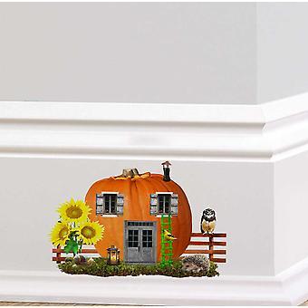 Full Colour Pumpkin Fairy Door Wall Sticker