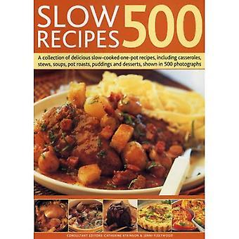 500 recettes lents: une Collection de délicieuses recettes monotope mijotés, y compris les Casseroles, ragoûts, soupes, rôtis de Pot, Puddings et Desserts, montrés dans 500 photographies