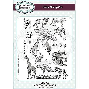 Creative Expressions African Animals Clear Stamp Set