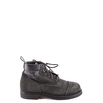 Stone Island Ezbc024042 Men's Petrol Suede Ankle Boots