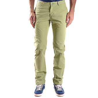 Daniele Alessandrini Ezbc107164 Men's Green Cotton Pants