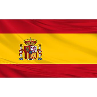 Spain Flag 5ft x 3ft Polyester Fabric Country National
