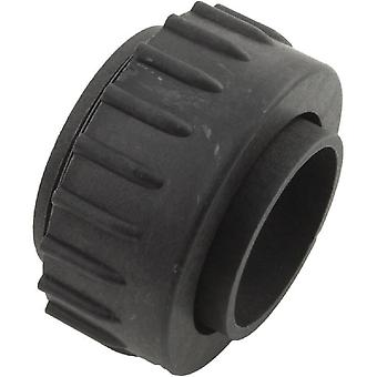 Mundial 3D8252C4 Old Style Pump Union Outlet with 40-MM Adapter - Black