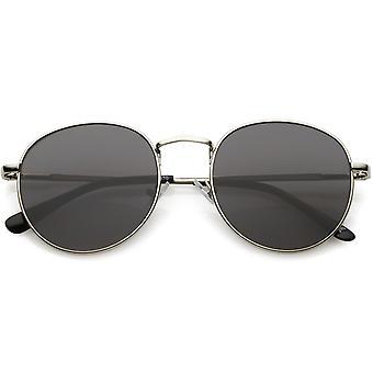 ラウンド フラット古典的な金属の丸いサングラス レンズ 50 mm