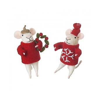 Heaven Sends Christmas Mice Home Decoration