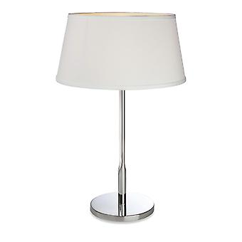 Firstlight - 1 Light Table Lamp Polished Stainless Steel, Cream - 8220PST
