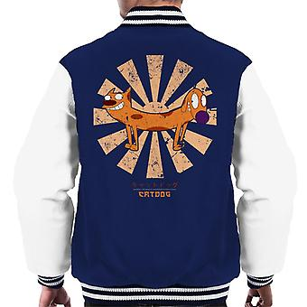 CatDog Retro Japanese Men's Varsity Jacket