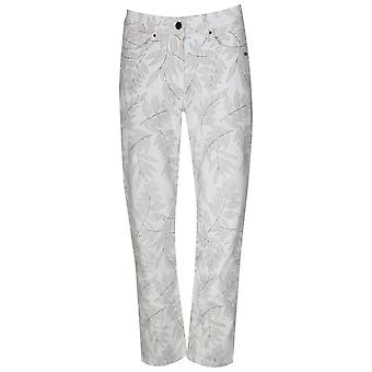 Laurie Straight Leg Printed Cotton Trouser