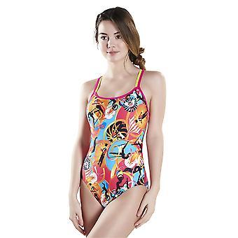 Speedo Solar Pavola Double Crossback Swimwear For Girls