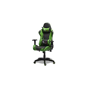Furnhouse Gaming Chair Pit Stop, Verde /Nero, Base in plastica, 66x65x127 cm