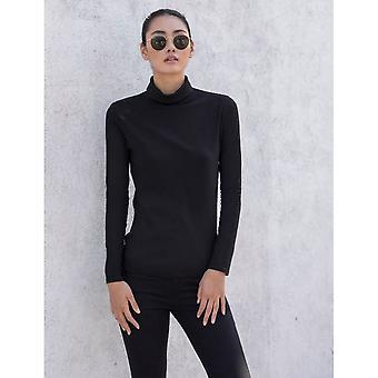Skinni Fit Womens/Ladies Feel Good Roll Neck Long Sleeve Top