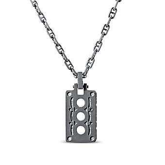 Simon Pagenaud Pendant Necklace In Sterling Silver Design by BIXLER