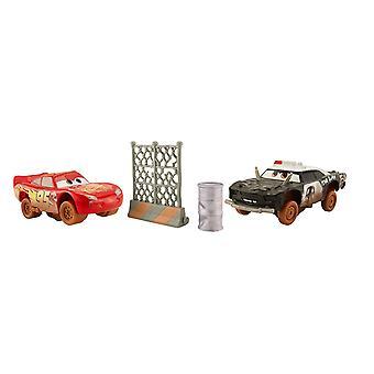 Disney Cars DYB14 Voitures 3 Crazy 8 Lightning McQueen et APB
