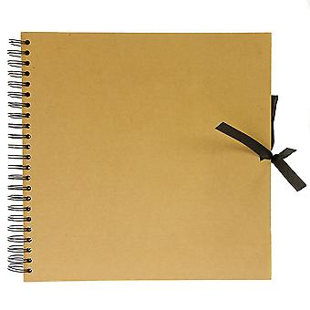 Seawhite Hardback Spiral Kraft Book 30 x 30 cm