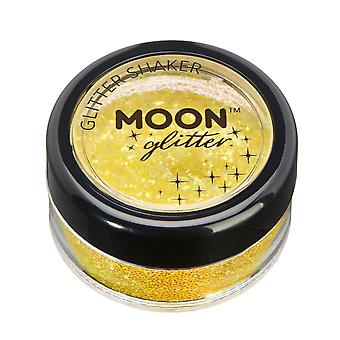 Iridescent Glitter Shakers by Moon Glitter – 100% Cosmetic Glitter for Face, Body, Nails, Hair and Lips - 5g - Yellow