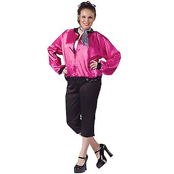 T-Bird Grease 50s 60s Pink Lady Rock Women Costume Plus