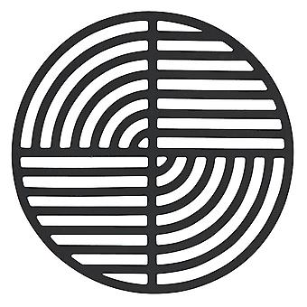 Zone siliconen onderzetters, Black cirkel