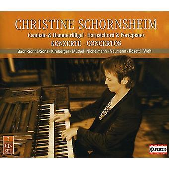 Keyboard Recital - Christine Schornsheim Plays Harpsichord & Fortepiano Concertos [CD] USA import