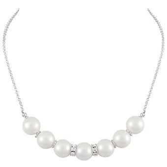 Eternal Collection Viscountess valkoinen kuori Pearl Hopea sävy kaula koru