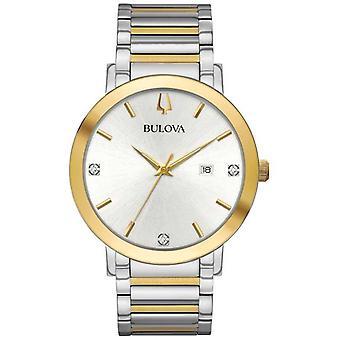 Bulova Mens Two Tone Bracelet Silver Dial 98D151 Watch