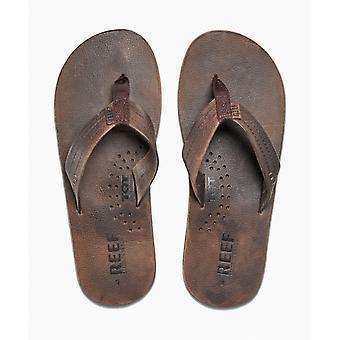 Reef Leather mäns sandal med Flask öppnare ~ draftsman choklad