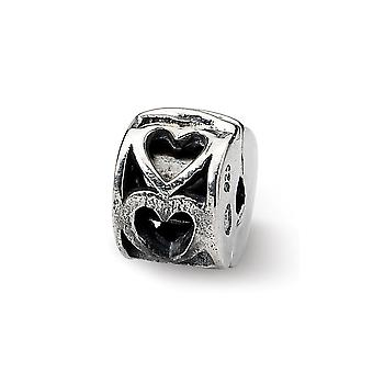 925 Sterling Silver Hinged finition polonaise Reflections Kids Love Heart Clip Bead Charm Pendant Necklace Bijoux Cadeaux fo