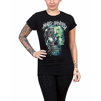 Avenged Sevenfold T Shirt Turbo schedel bandlogo officiële Womens Skinny Fit zwart