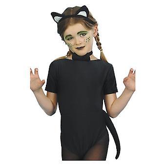 Mädchen Kinder Katzen Set Fancy Dress Zubehör