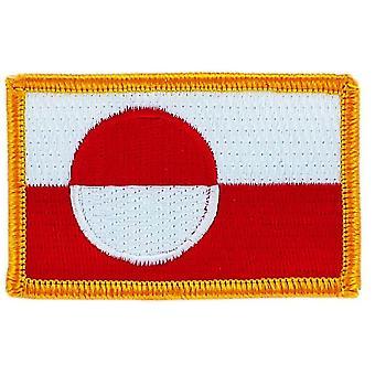 Aufnäher Ecusson Brode Flagge Grönland Thermocollant Insigna Blason