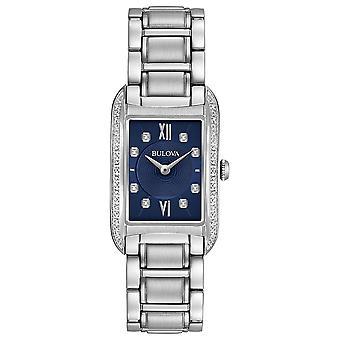 Bulova 96r211 kvinder ' s blå urskive diamant armbåndur