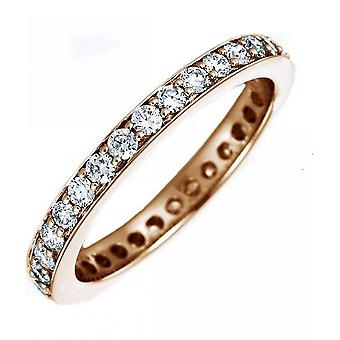 Diamond ring - 14K 585/- red gold - 1.05 ct. Size 58