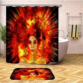Real Explosion Hair Beautiful Girl Shower Curtain