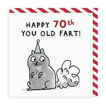 Ohh Deer 70 Old Fart Square Birthday Card