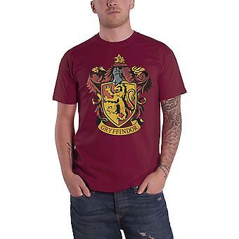 Harry Potter T-paita Gryffindor House Crest virallinen miesten uusi punainen