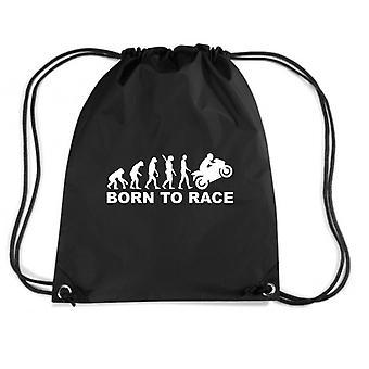 Black backpack dec0110 evolution born to run motorcycle