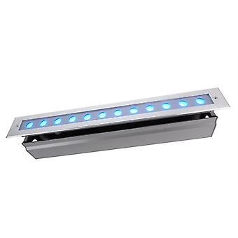 Lampa podłogowa LED wpuszczona Linia V RGB 18W 30° 524 mm ściemniania srebrny IP67
